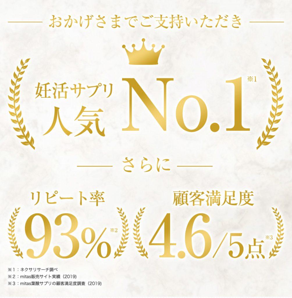 mitas妊活サプリ人気No.1
